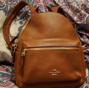 Mini Coach Pebble Leather backpack